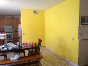 yellow wall